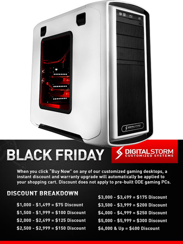 Digital Storm Computer Black Friday Deals