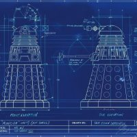 doctor who dalek blueprint poster