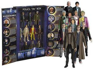 Doctor Who Eleven Doctors Action Figure TARDIS Box Set