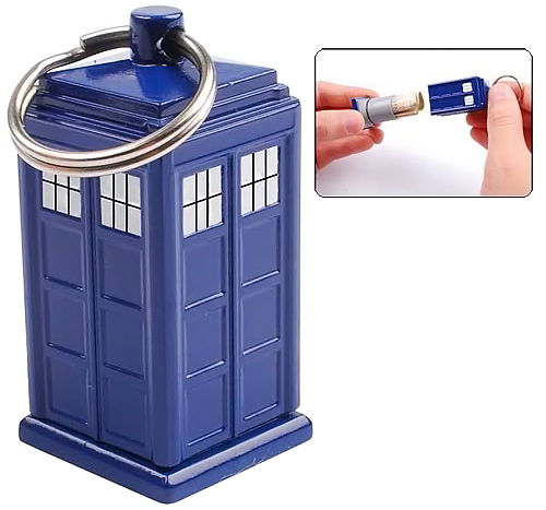 Doctor Who TARDIS Secret Bank Keychain