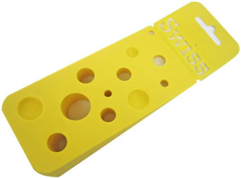 Swiss Cheese Doorstop
