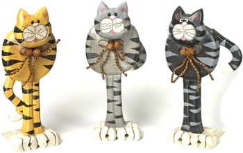 Crazy Cat Doorstops