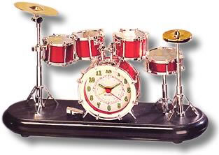 Miniature Drum Set Alarm Clock
