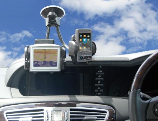 Dual Gooseneck Phone Holder for Cars