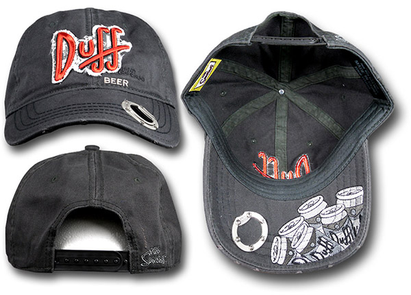 Simpsons Duff Beer Bottle Opener Hat