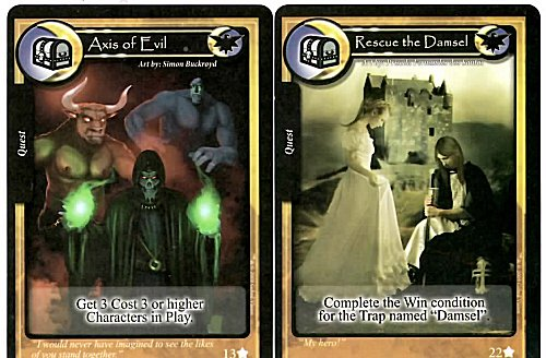 Dungeon Crawler Game Cards