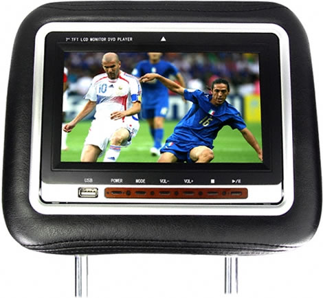 Headrest with Built-in 7-Inch DVD Player