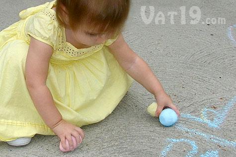 Easter Egg-shaped Chalk