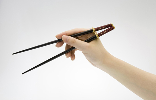 Eat samurai sword chopsticks