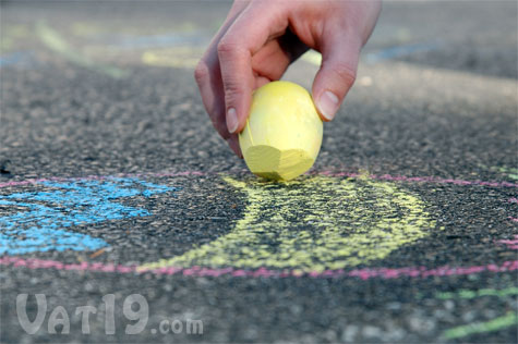 Egg-shaped Sidewalk Chalk