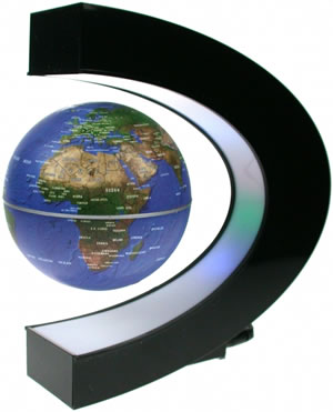 Illuminating Levitating Earth Globe