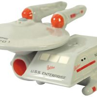 Star Trek Enterprise and Shuttle Salt & Pepper Shakers