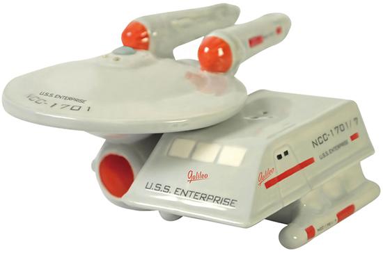 Star Trek Enterprise and Shuttle Salt & Pepper Shakers