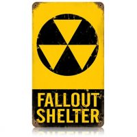 Metal Fallout Shelter Sign