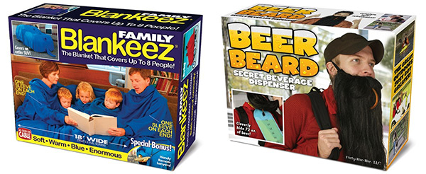 Family Blankeez and Beer Beard Prank Boxes