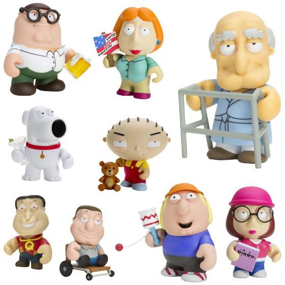 Cleveland Family Guy Toys : Kidrobot family guy ″ mini figures