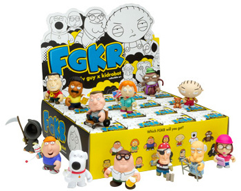 Kidrobot Family Guy 3 Mini Figures