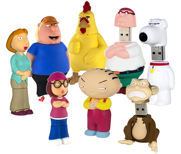 Family Guy Peters Toy Design : Family guy usb flash drives