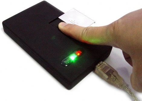 Hard Disk Drive Enclosure with Fingerprint Reader