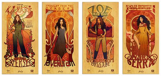Women of Firefly Les Femmes Posters