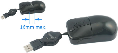 Palm-fit Adjustable Optical USB Mouse