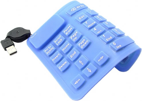 Flexible Silicone USB Numpad