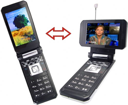 Swivel Widescreen Multimedia Cell Phone