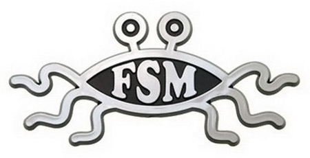 flying spaghetti monster car emblem Flying Spaghetti Monster Car Emblem