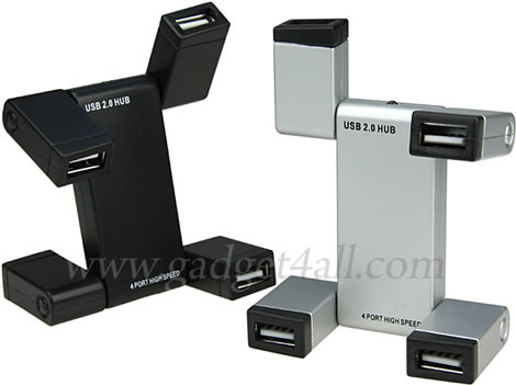 Foldable 4-Port USB Hub