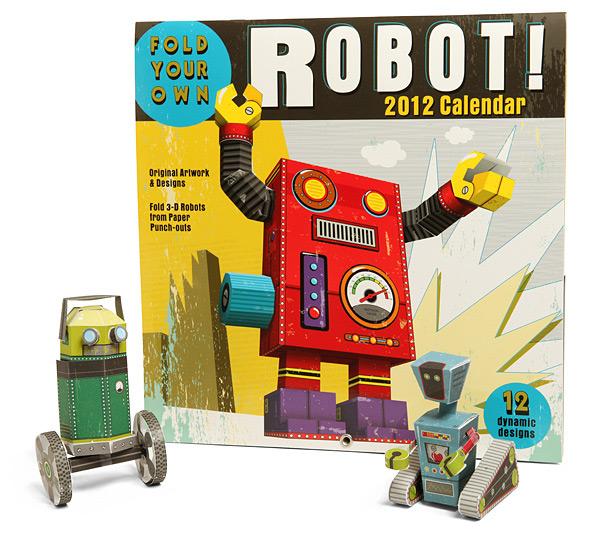 Fold Your Own Robot 2012 Calendar