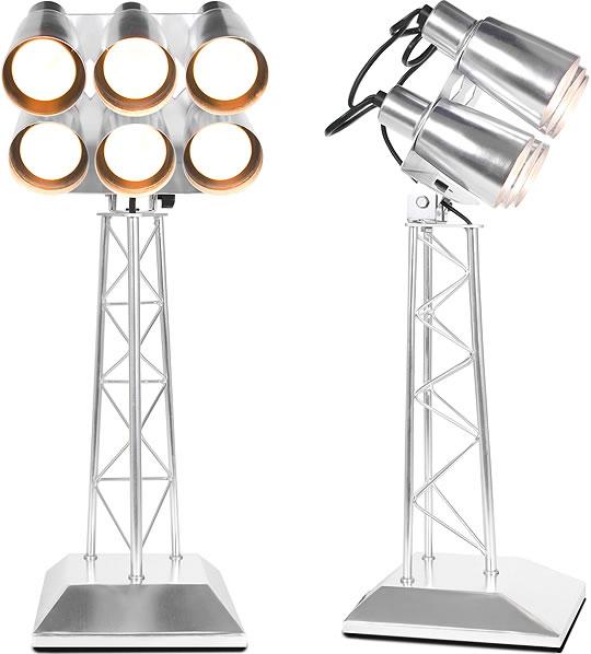 Stadium Lights Light Bulb: Football Stadium Floodlights Desktop Replica