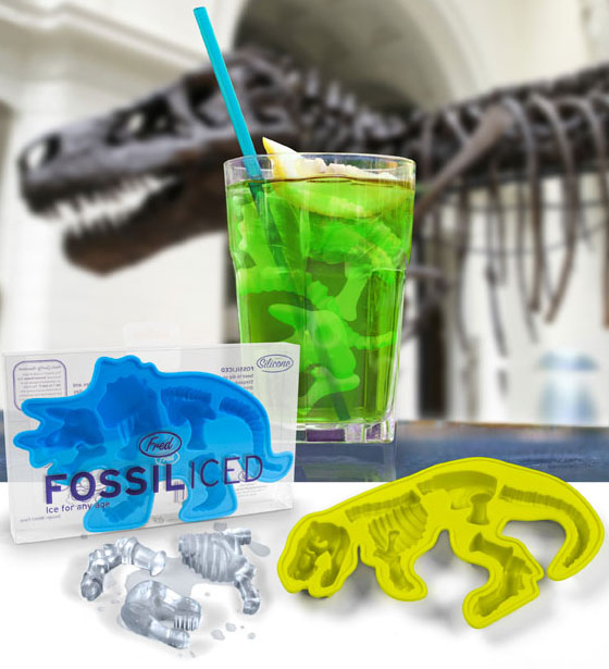 fossiliced dinosaur ice cube tray