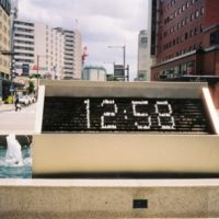 Digital Fountain Clock (Video)