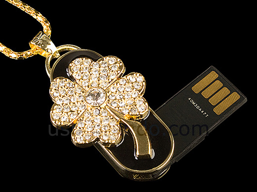 Four Leaf Clover Flash Drive