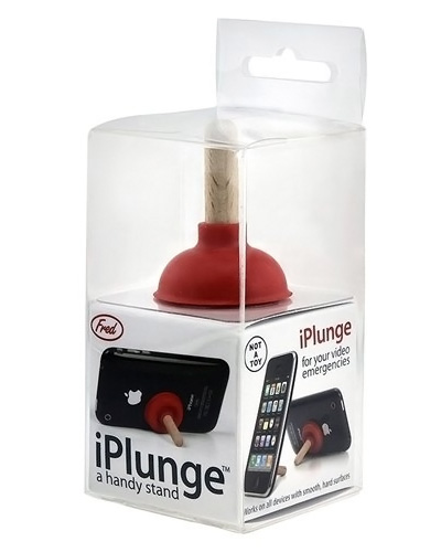 Toilet Plunger iPhone Stand