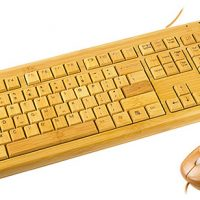 Full Bamboo USB Keyboard and Mouse