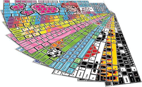 Designer Keyboard Stickers from Funkeyboards