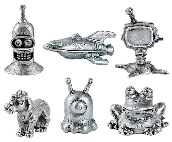 Futurama Monopoly Game Pieces