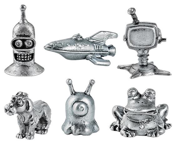 Futurama Monopoly Game Pieces