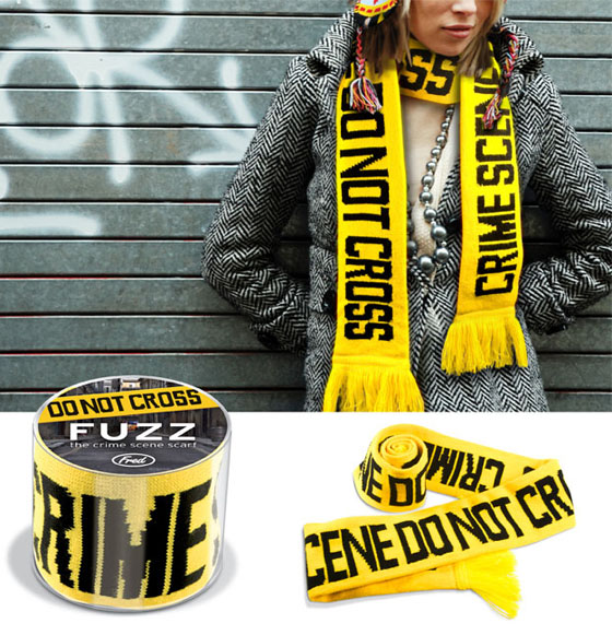 fuzz the crime scene scarf