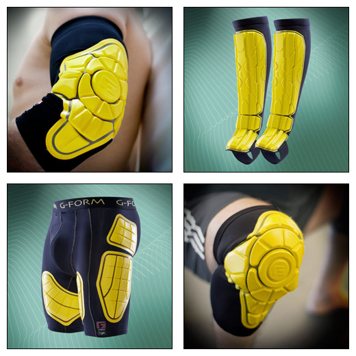 G-Form MMA Shorts, Shin, Elbow, and Knee Pad Guards
