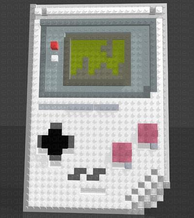 Gameboy Lego 3D Mosaic