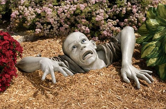 Garden Zombie Statue