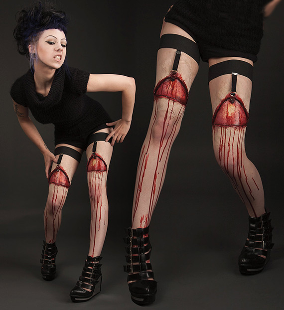 Horror Gartered Legs Prosthetics