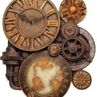 Gears of Time Wall Clock