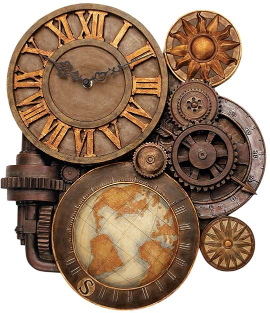 Vintage Gear Wall Decor : Gears of time wall clock