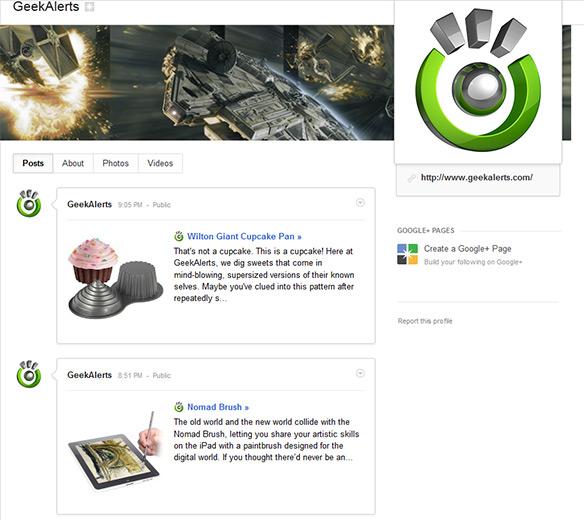 GeekAlerts Google+ Page