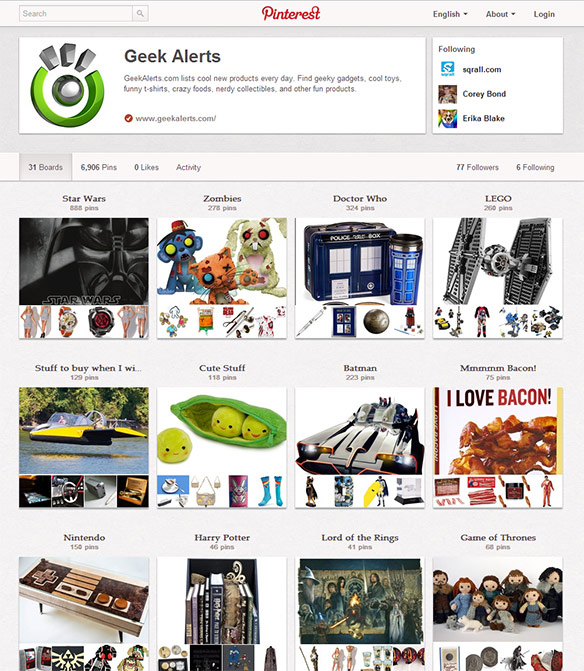 Geekalerts on Pinterest