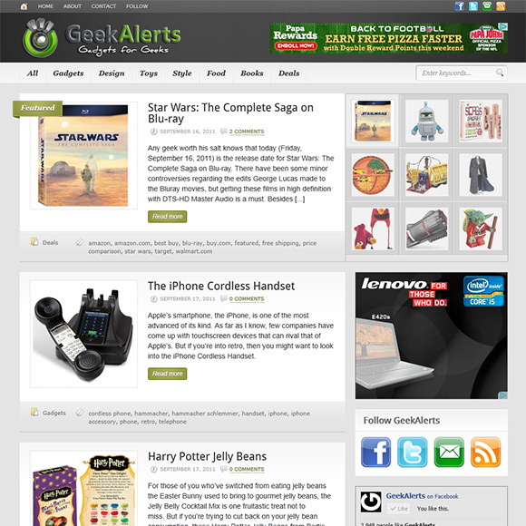 GeekAlerts.com Screenshot