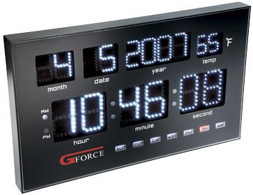 Gforce Power LED Calendar Clock